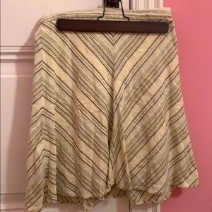 Women's banana republic linen a-line skirt sz4